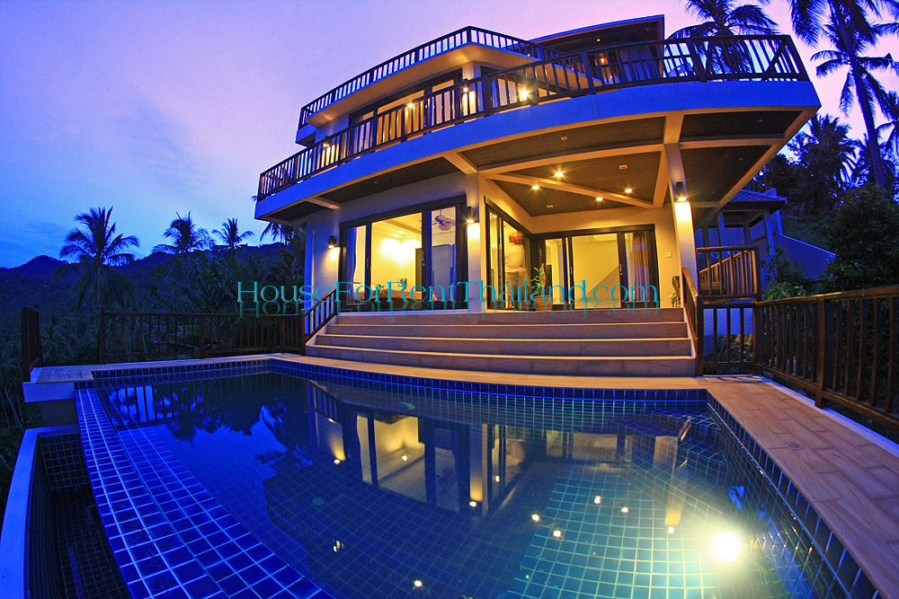 CHA0845 Luxury 3 storey pool seaview villa in Chaweng Samui