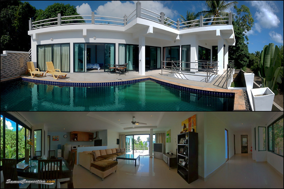 CHA1035: Modern 3 bedroom pool villa in Chaweng ‹ Samui Rent House