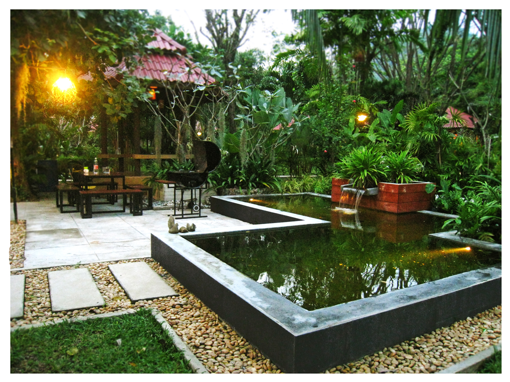 Image result for tropical garden home